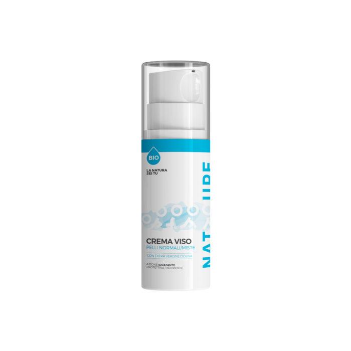 Crema Viso Pelli Normali/Miste con OLIO EXTRAVERGINE D'OLIVA - Cosmetici Online - Natyoure