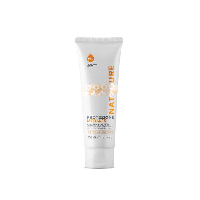 Crema Solare Media Protezione 15 con Olio Extravergine d'Oliva - Cosmetici Online - natyoure