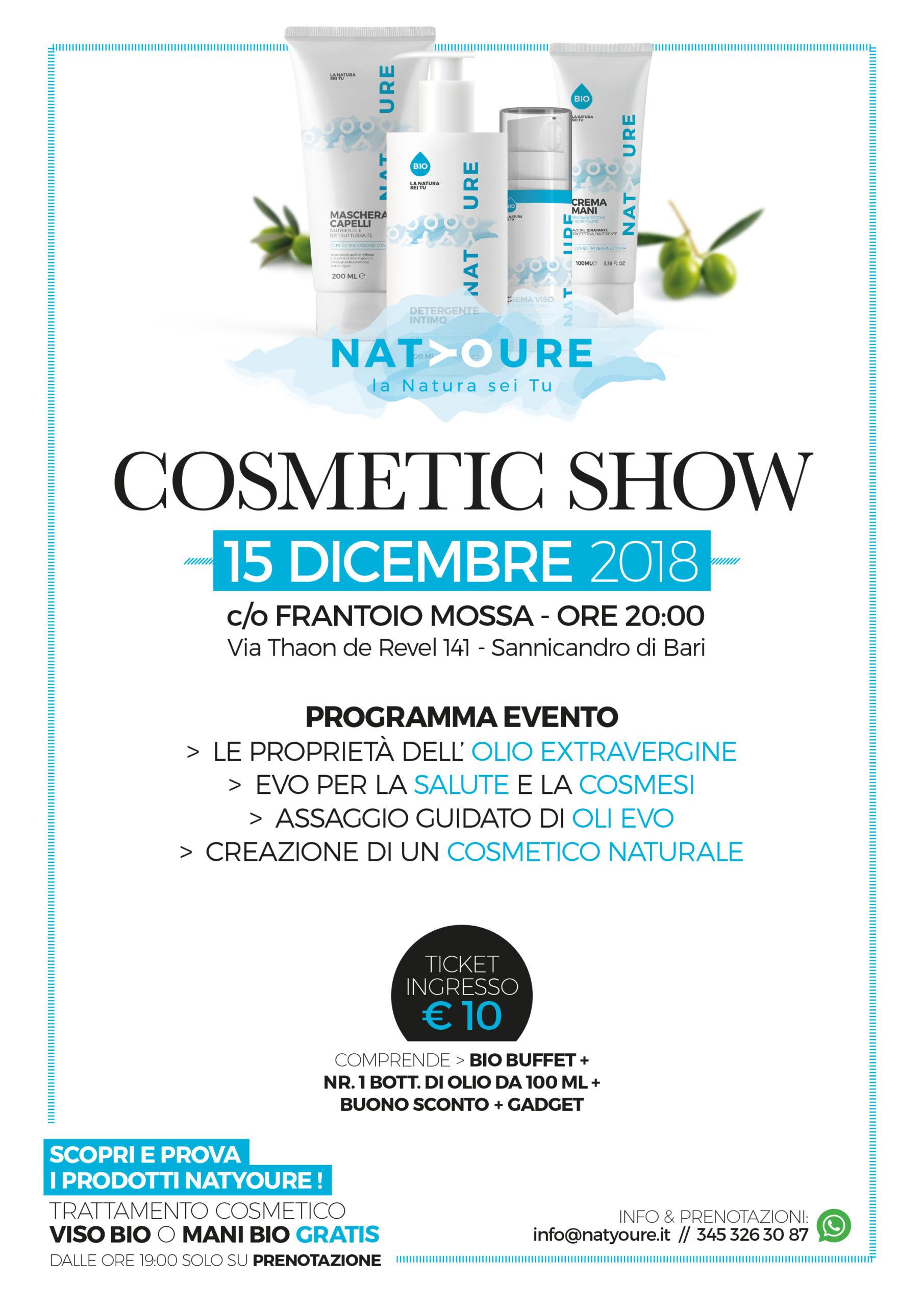 evento cosmesi naturale - Natyoure - www.natyoure.it