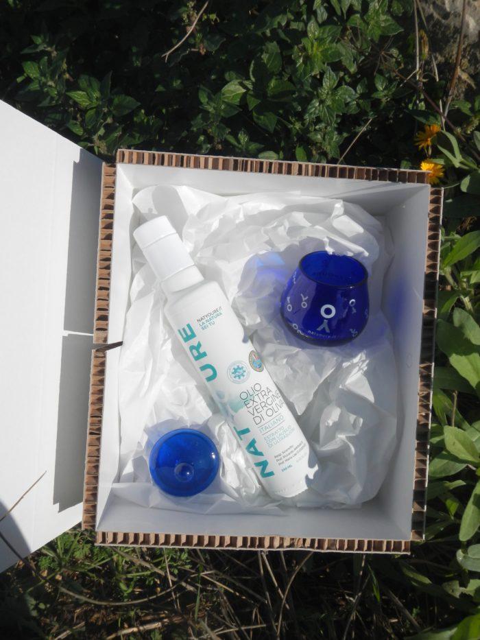 gift box olio e bicchierino